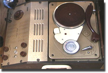 Pentron AstroSonic wire recorder, AM radio and phonograph unit in Reel2ReelTexas.com's vintage recording collection