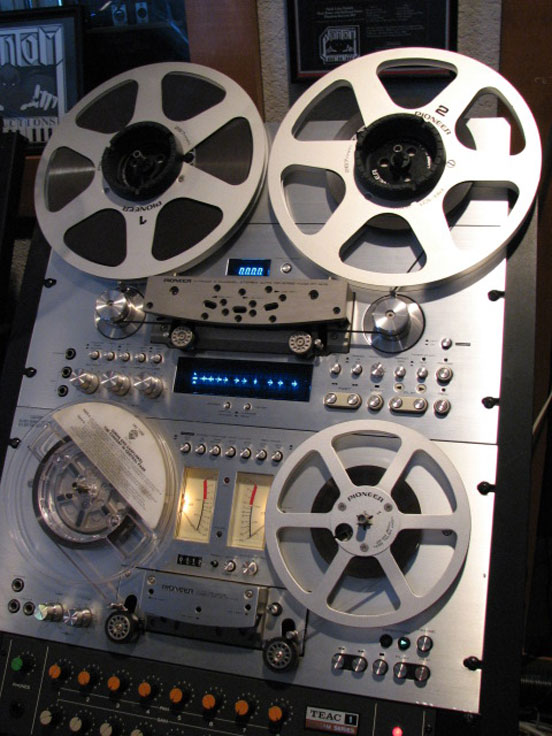 Pioneer RT909 & RT 707 in Reel2ReelTexas.com vintage reel to reel tape recorder collection