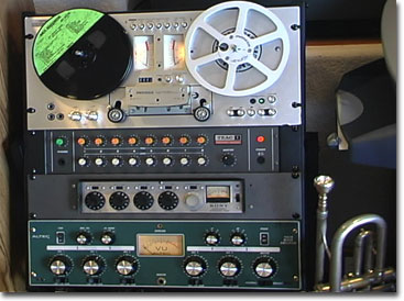 picture of Shure Pro mixer in rack