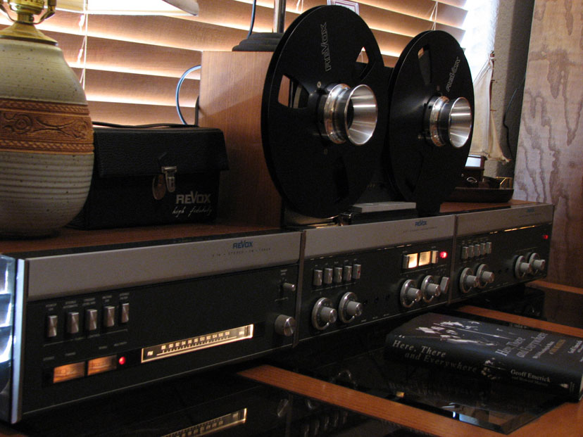 ReVox A77 MK IV tape recorder, the ReVox A76 tuner and the ReVox A78 amplifier in Phantom Productions' vintage tape recording collection