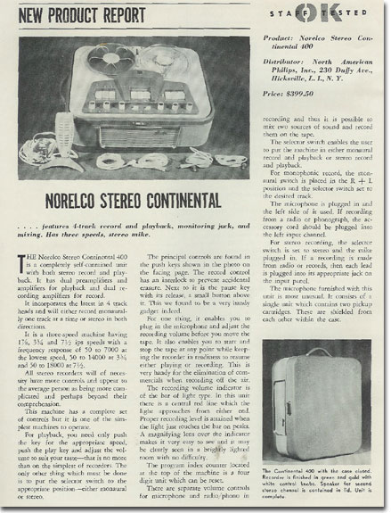 1960 Norelco review