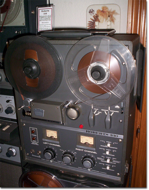 1964  Roberts 330 reel tape recorder in the Reel2ReelTexas.com vintage recording collection