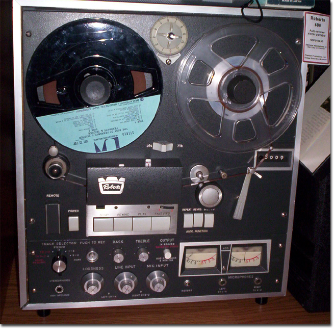 picture of Roberts 400 in Phantom's vintage tape recording museum