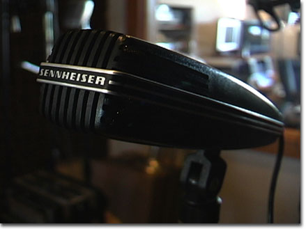 picture of Sennheiser MD412 microphone in Reel2ReelTexas.com's vintage recording collection