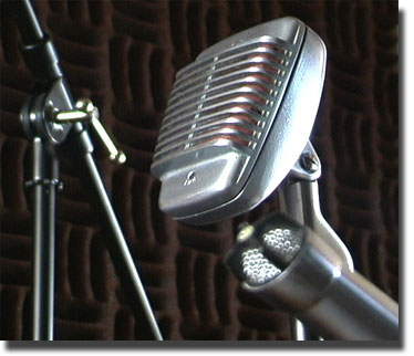 Shure 51 microphone in Reel2ReelTexas.com's vintage microphone and recording equipment collection