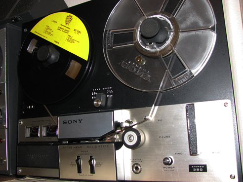 Sony TC-350 in Reel2ReelTexas.com's vintage reel tape recorder collection
