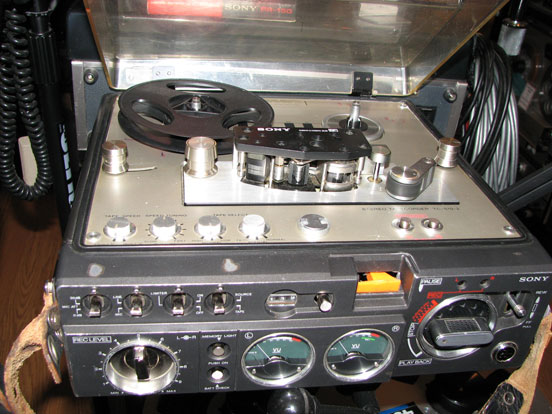 Sony 510 in Phantom Productions, Inc. vintage reel tape recorder collection