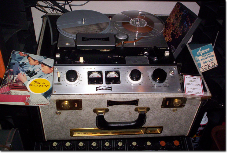 picture of Sony 555 reel tape recorder