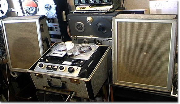 picture of Sony 555 reel tape recorder from 1959