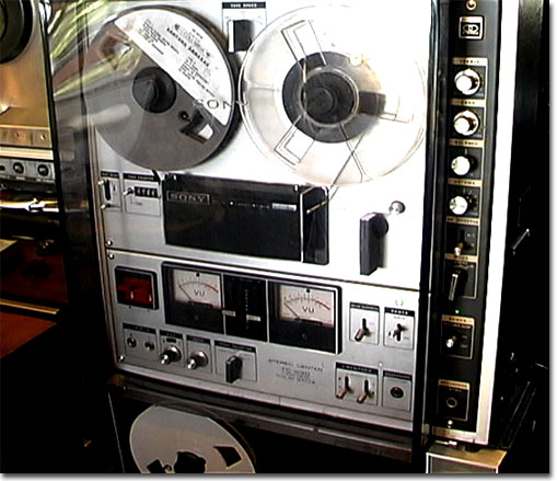Sony 630 Stereo Control Center reel tape recorder with dust cover