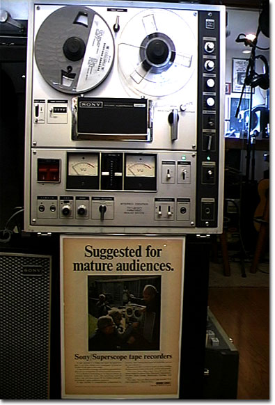 picture of Sony 630 Stereo Center reel tape recorder