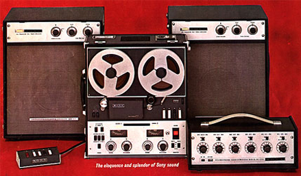 picture of ad for Sony 777 tape recording equipment