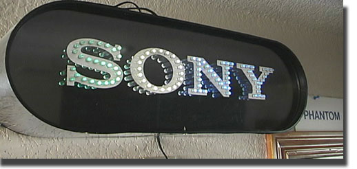 picture of Sony store sign