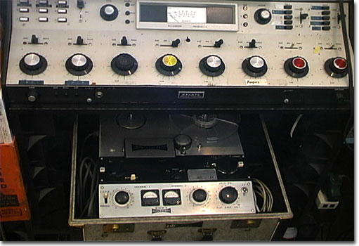 picture of Sparta A-20B radio console with Sony 555 reel tape recorder