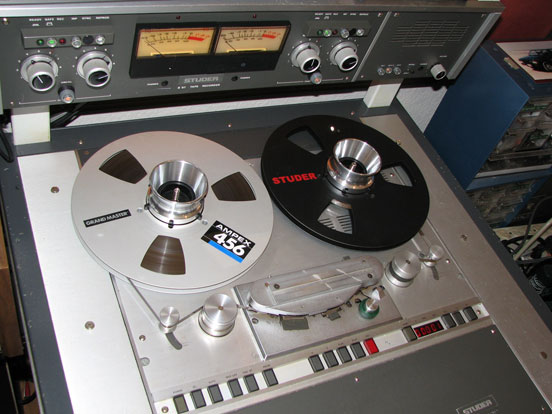 Studer B67 professional reel to reel tape recorder  in Reel2ReelTexas' vintage recording collection