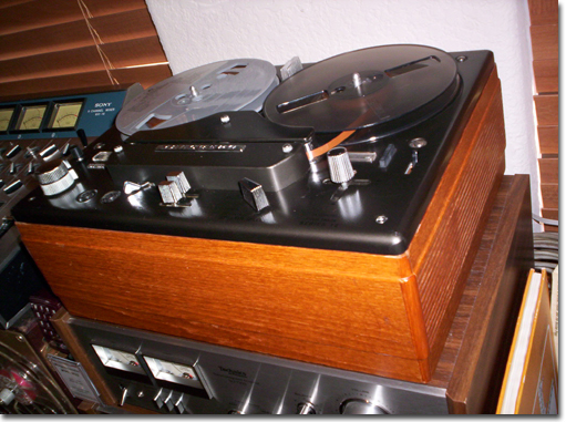 picture of Tandberg 12 reel tape recorder in Phantom Productions reel to reel tape recorder museum