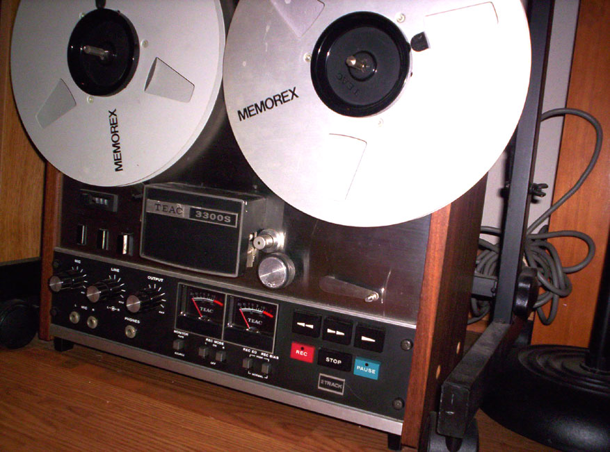 Teac 3300SX 2 track mastering recorder in Phantom reel tape recorder museum