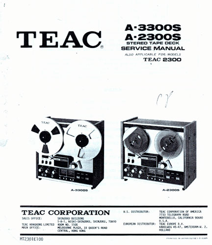 picture Of Teac 3300 manual