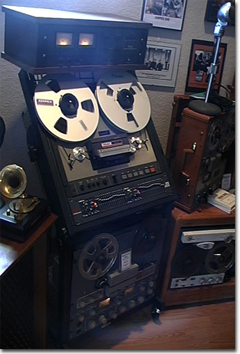 picture of Phantom's Teac Tascam 35-2 mastering reel tape recorder