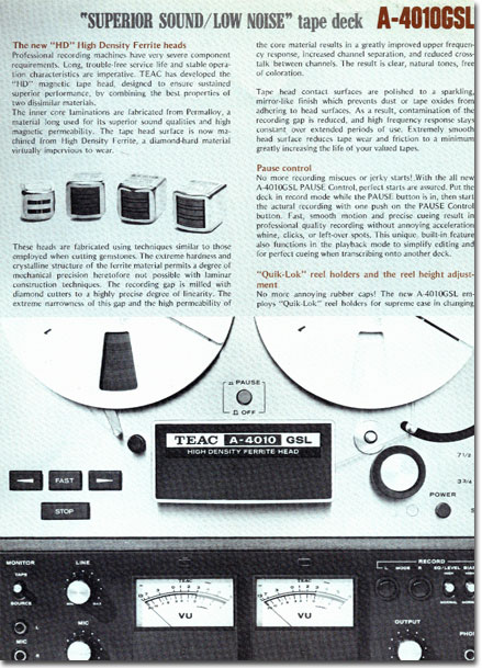 picture of Teac 4010 brochure