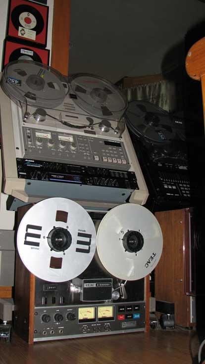 Teac A-=3300 2T  15 ips half track mastering deck in Phantom Production, Inc.s vintage recording museum