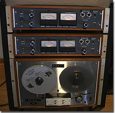 Teac TCA-43 4 track Simil-Sync reel to reel tape recorder in the Phantom Productions, Inc.'s Reel2ReelTexas.com