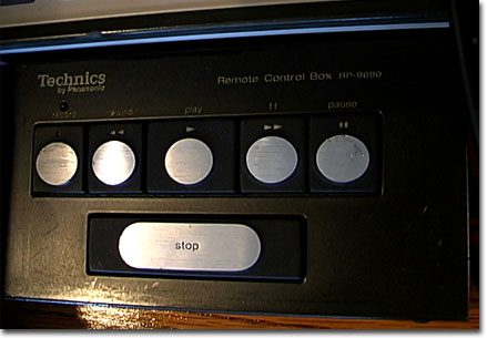 Technics remote in the Museum of Magnetic Sound Recording