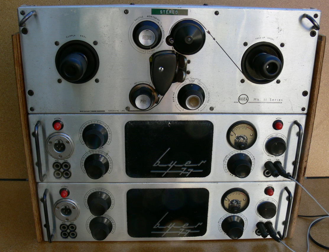 Byer 77 reel tape recorder