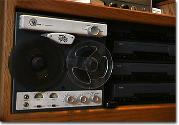 Viking 76 reel tape recorder with VHS duplicators