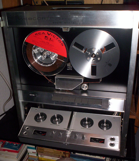 picture of Webcor Professional CP2550 reel tape recorder in Phantom's vintage reel to reel collection