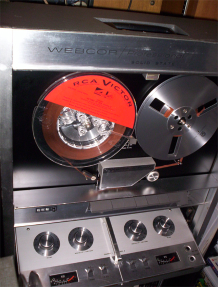 Webcor Pro 2650 reel tape recorderin Reel2ReelTexas.com's vintage recording collection