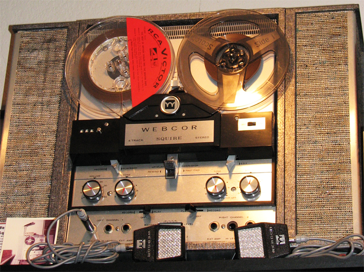 Webcor Squire in Reel2ReelTexas.com's vintage reel tape recorder collection
