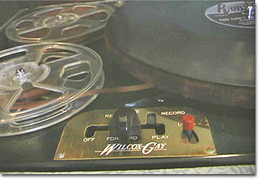 picture of Wilcox Gay recorder and tape recorder