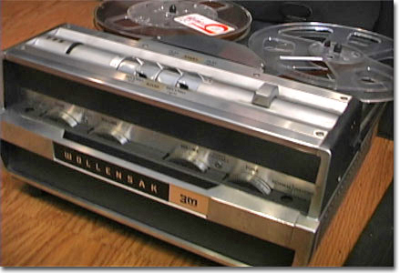 picture of Wollensak 1580 reel tape recorder
